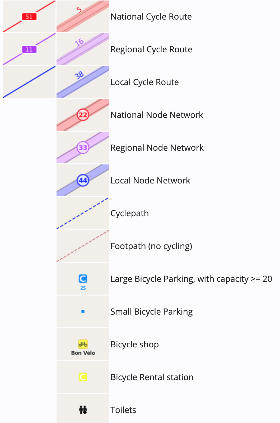 OpenCycleMap map key